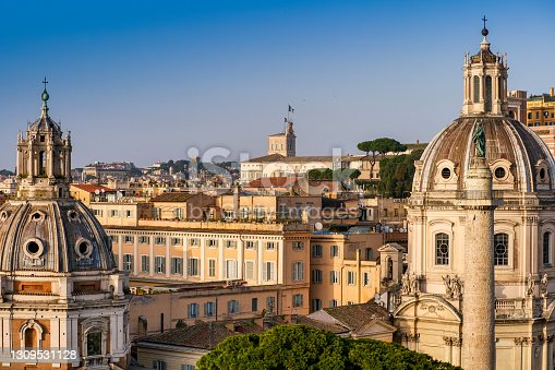 istock The roofs of the historic center of Rome and the Quirinal Palace 1309531128