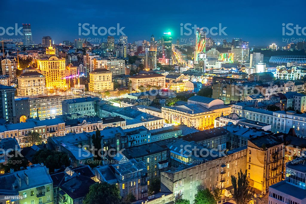 The rooftop view to the Kyiv city royalty-free stock photo