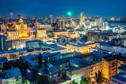 istock The rooftop view to the Kyiv city 537791979