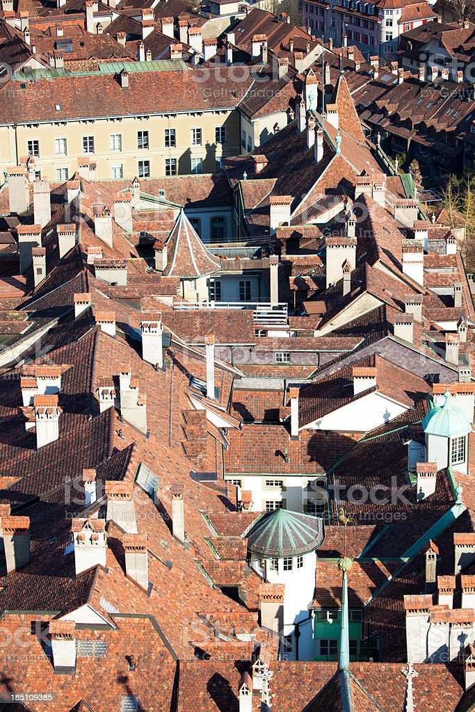 The rooftops of Bern from above. royalty-free stock photo