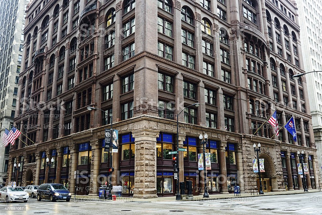 The Rookery, downtown Chicago stock photo