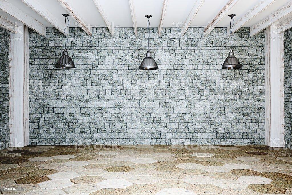 The room is in a Mediterranean style. 3d illustration Lizenzfreies stock-foto
