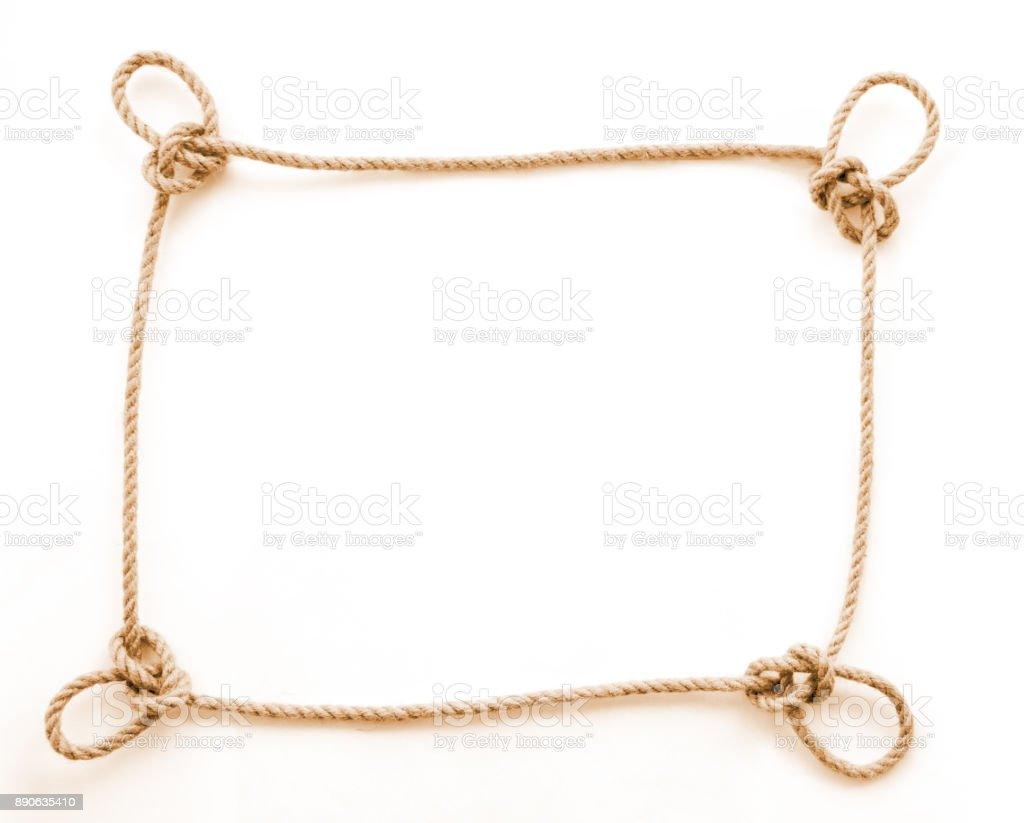 The rope frame with dragon loops stock photo