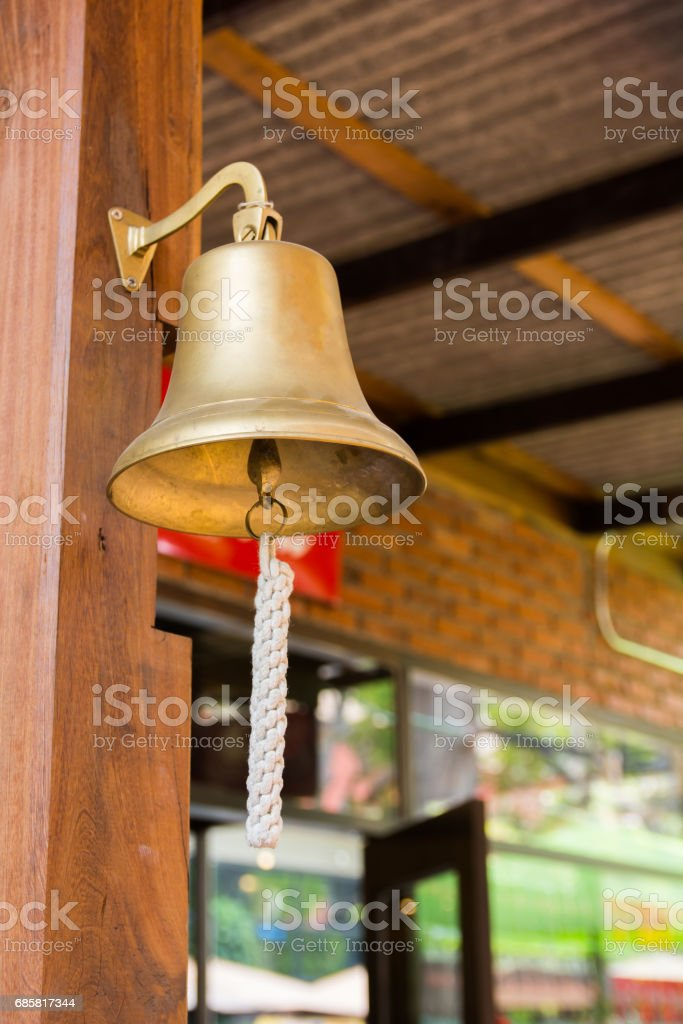 the rope of Gold retro bel stock photo