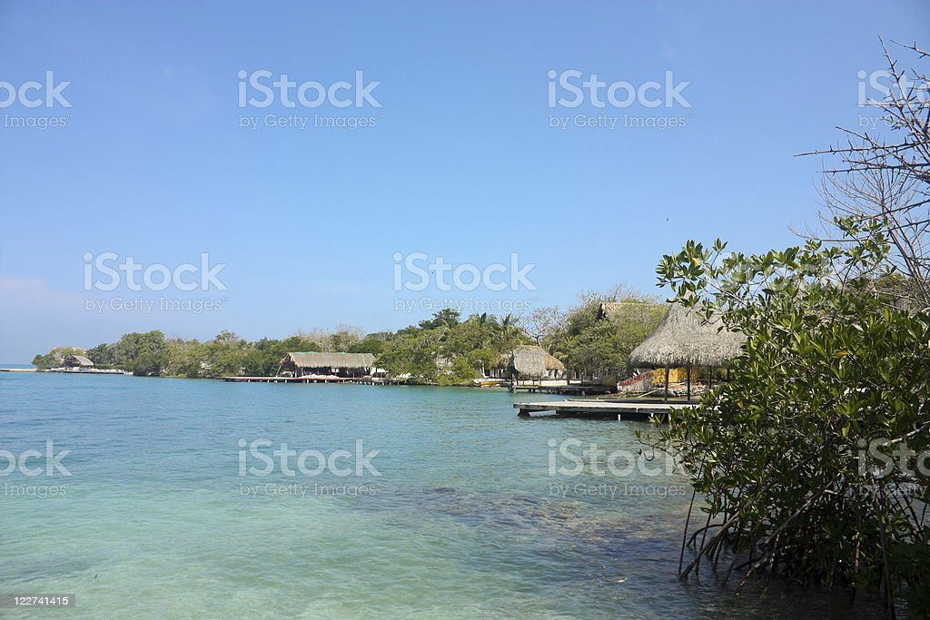 The Rosario Islands. Caribbean coral reef. Colombia stock photo