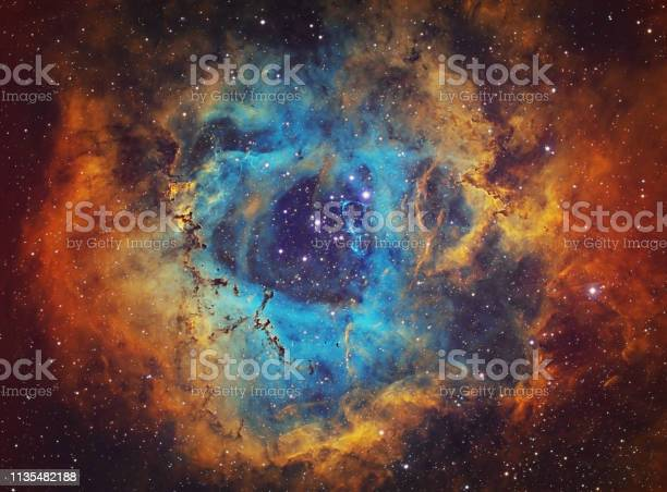 Photo of The Rosette Nebula (NGC 2237, Caldwell 49) in the constellation of Monoceros, HST image