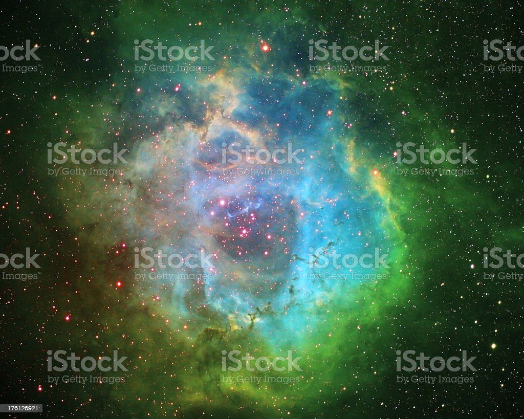 The Rosette Nebula stock photo