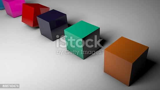 96897092istockphoto The rotation of cubes of different colors on the floor 838740474