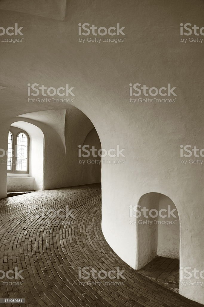 The Round Tower (Rundetårn), Copenhagen - indoor stock photo