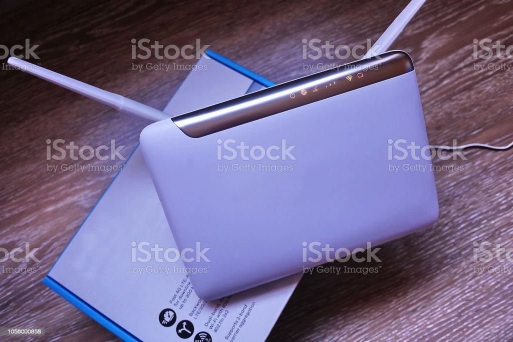 The Router For Your Wireless Home Office Internet Stock Photo