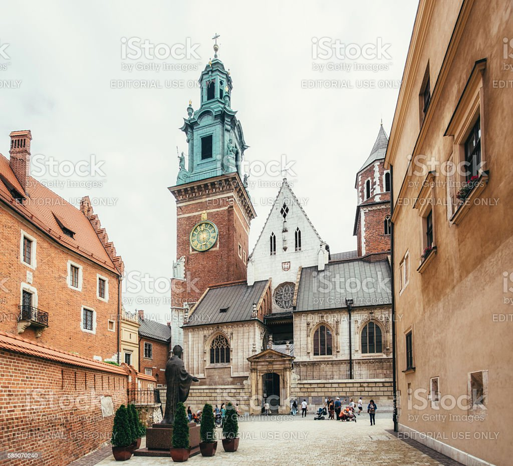 The Royal Castle on the Wawel Hill in Krakow stock photo