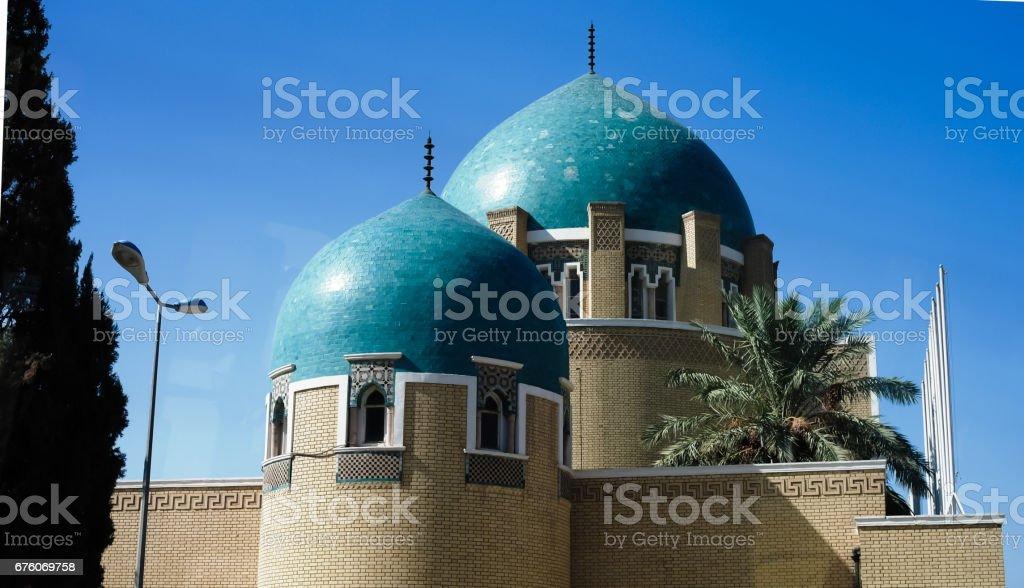 El cementerio real y el Mausoleo de Adamiyah, Bagdad, Iraq - foto de stock