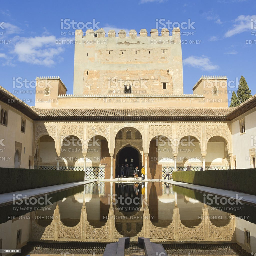 The Royal Complex of Alhambra royalty-free stock photo