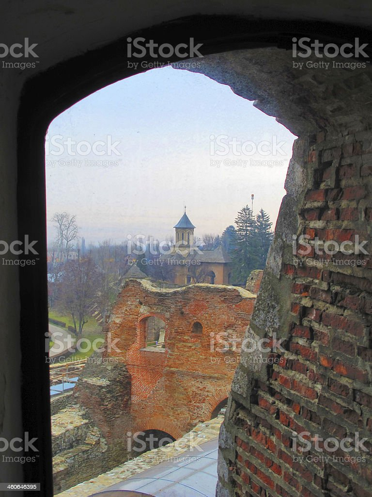 The royal court, Targoviste, Romania stock photo