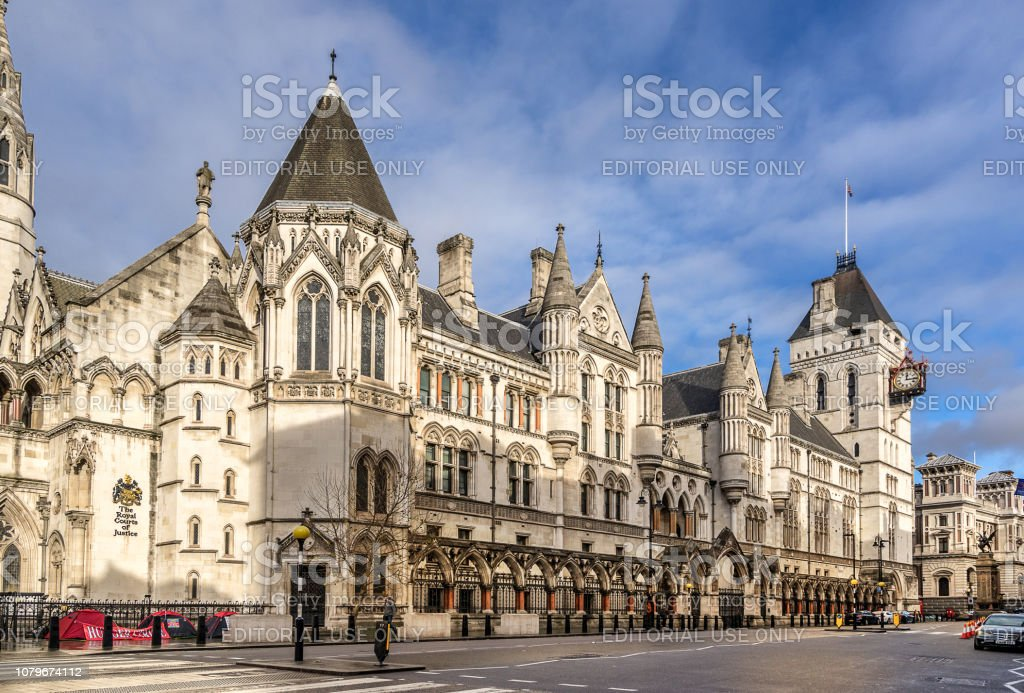 The Royal Courts of Justice in London England stock photo