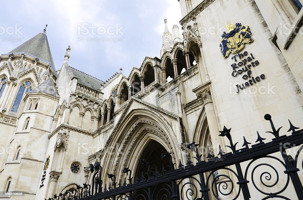 The Royal Courts of Justice in London, England royalty-free stock photo