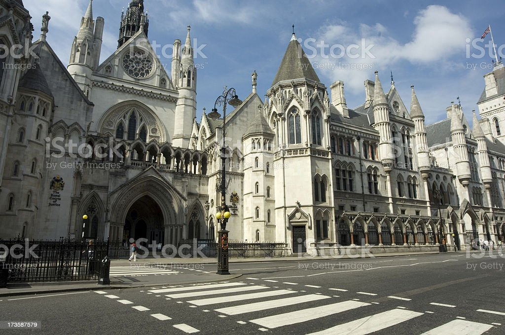 The Royal Courts of Justice royalty-free stock photo