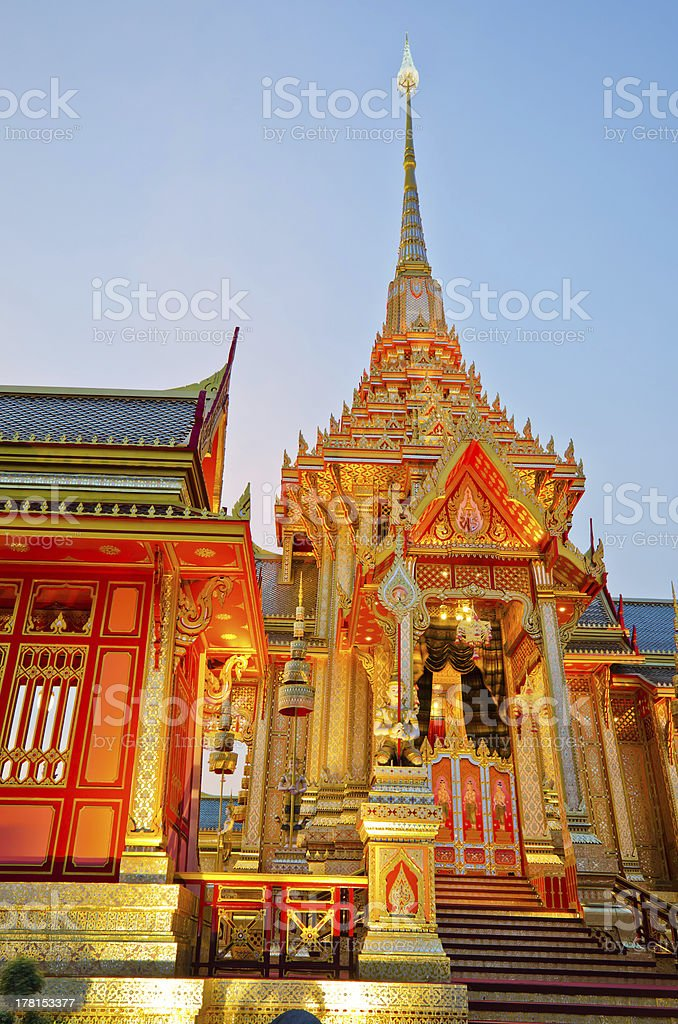The Royal Cremation Ceremony of Prince Bejaratana Rajasuda royalty-free stock photo