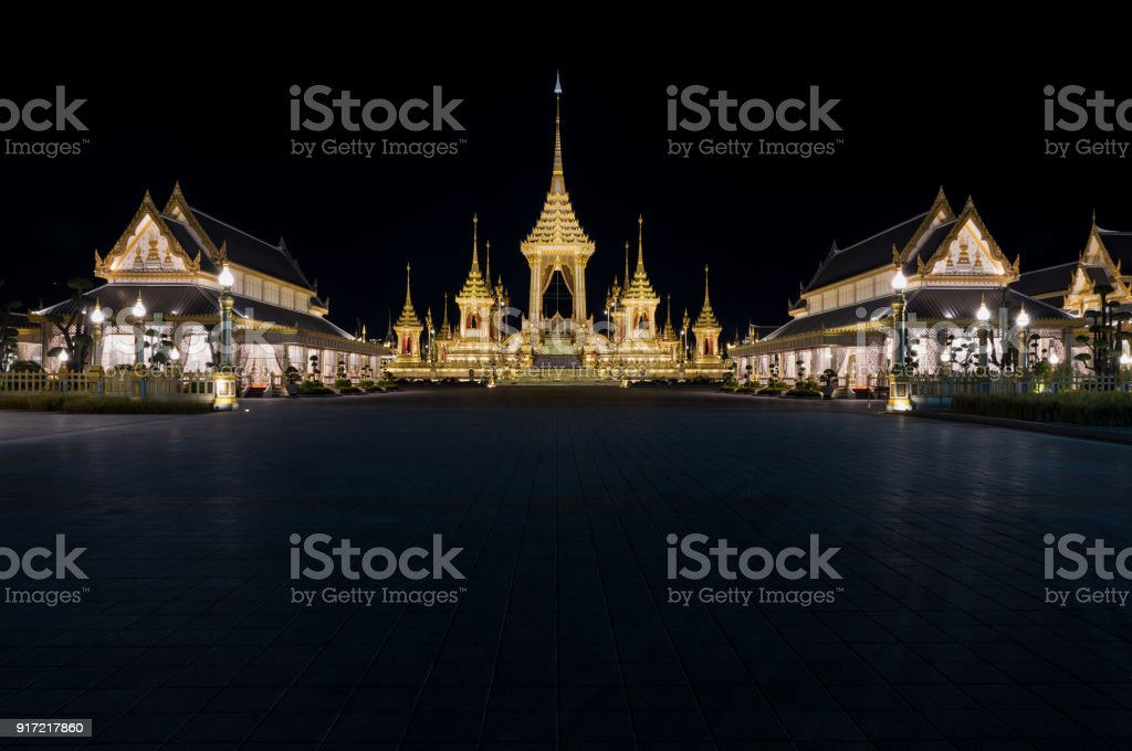 The Royal Crematorium for His Majesty King Bhumibol Adulyadej stock photo