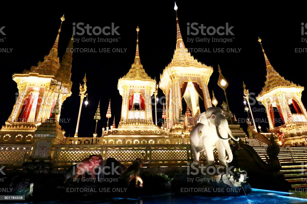 The Royal Crematorium for HM King Bhumibol Adulyadej stock photo