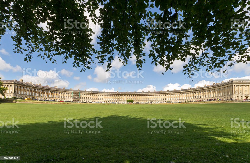 The Royal Crescent stock photo