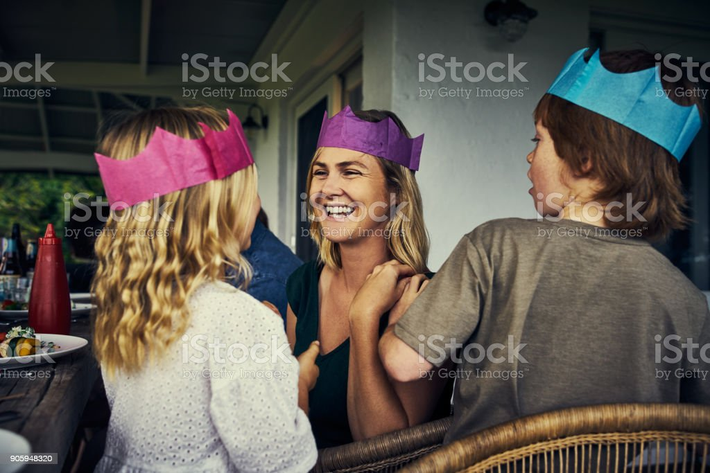 The royal family stock photo