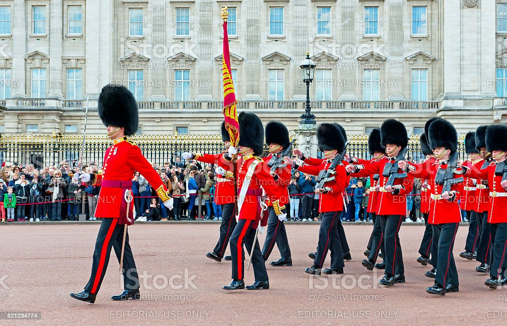 The Royal Guards, London royalty-free stock photo