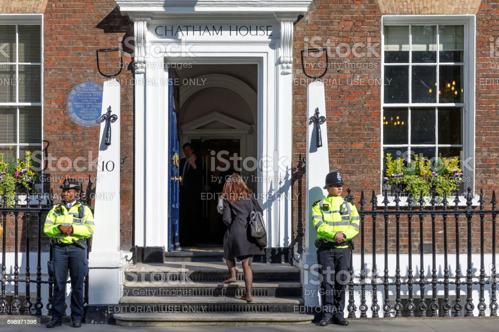 O Royal Institute of International assuntos Chatham House - foto de acervo