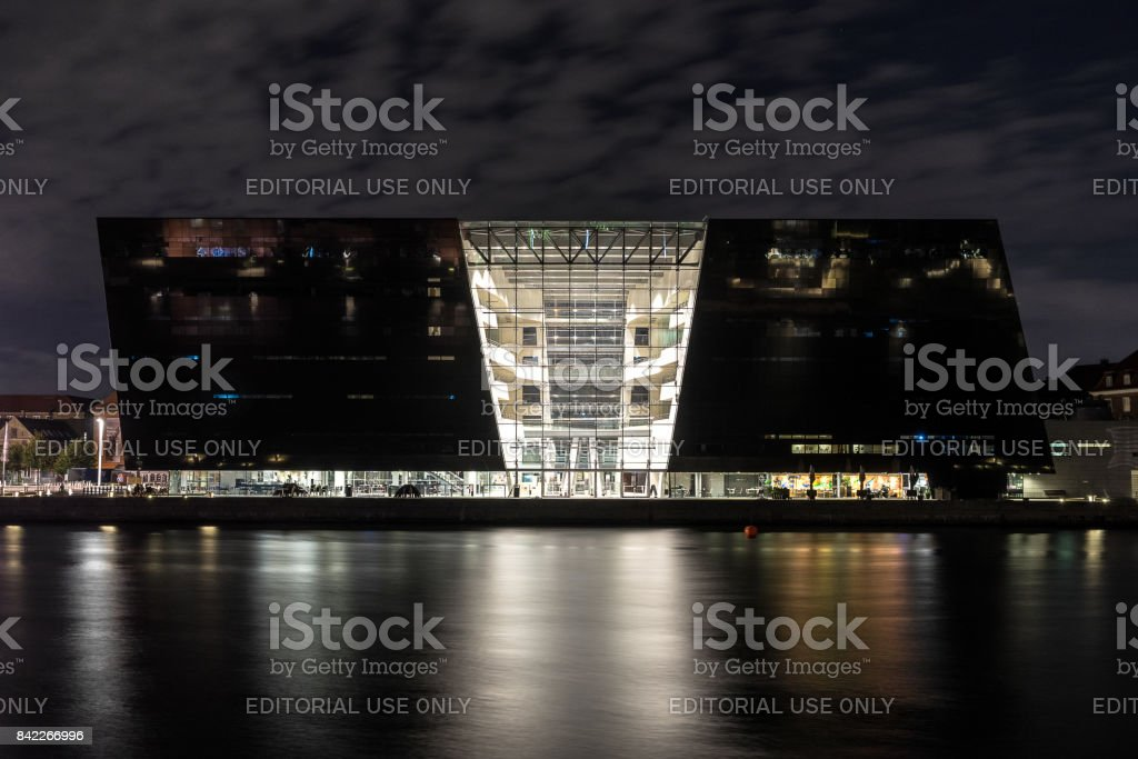 The Royal Library in Copenhagen stock photo