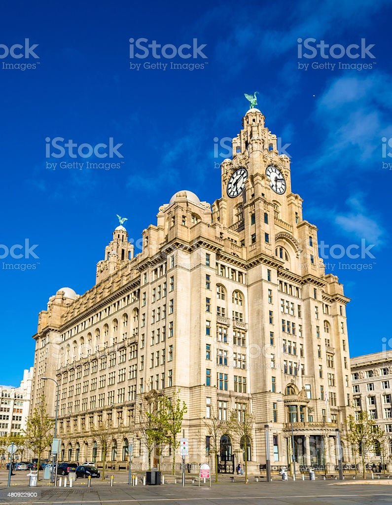 The Royal Liver Building in Liverpool - England stock photo