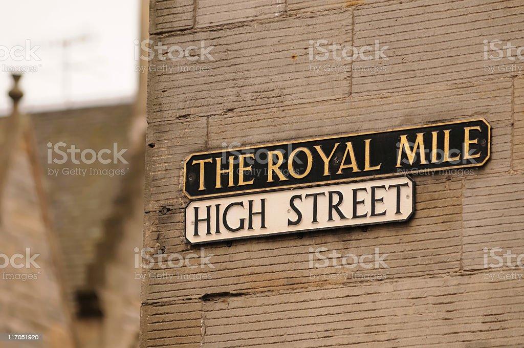 The Royal Mile, Edinburgh royalty-free stock photo