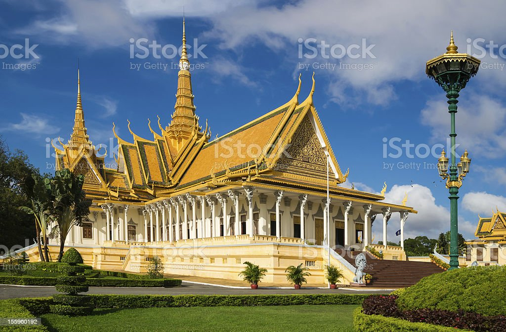 The Royal Palace in Phnom Penh royalty-free stock photo