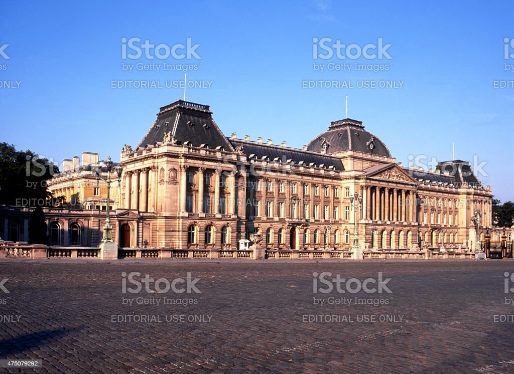 The Royal Palace of Brussels. stock photo