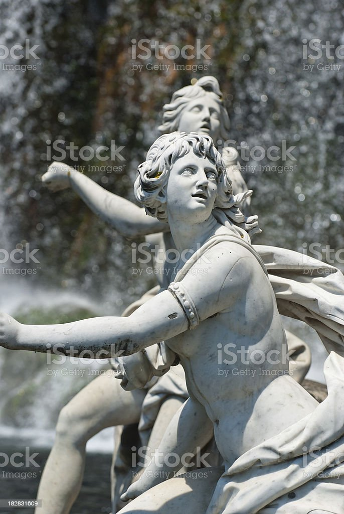 The Royal Palace of Caserta Statue royalty-free stock photo