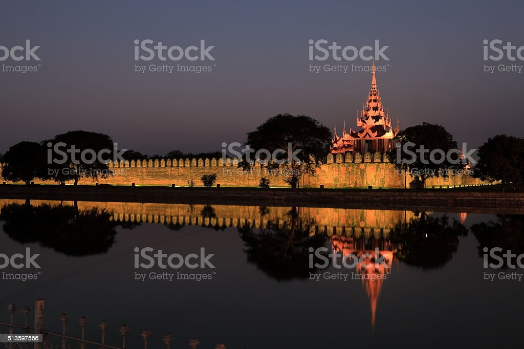 The Royal Palace of Mandalay stock photo