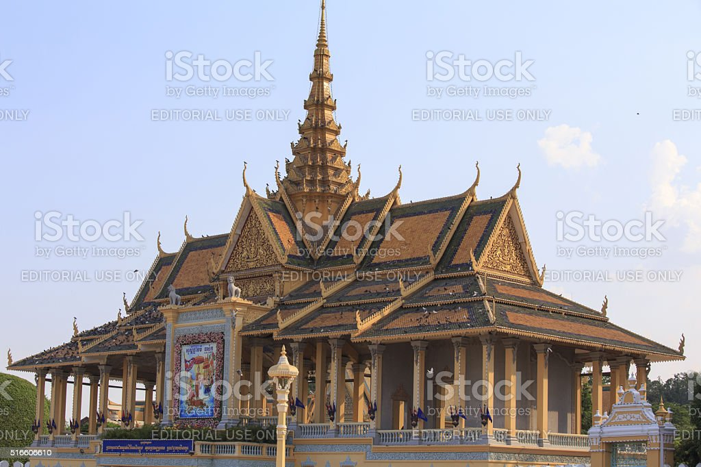 the royal palace of Phnom Phen stock photo