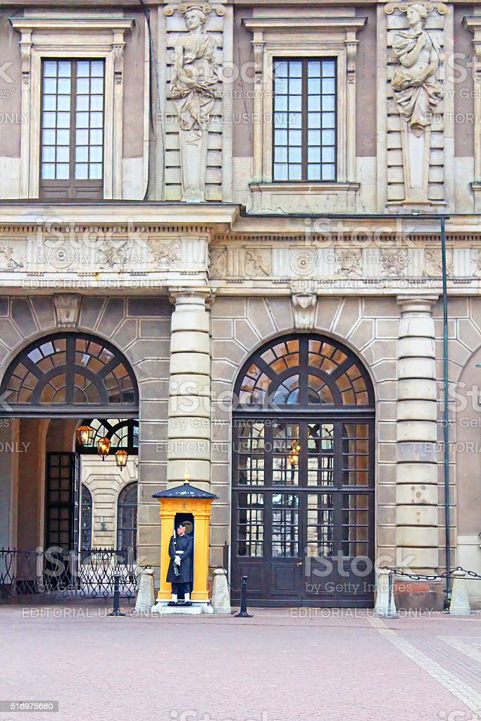 The Royal Palace of Stockholm, Sweden stock photo