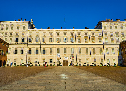 The Royal Palace of Turin. Piedmont, Italy.