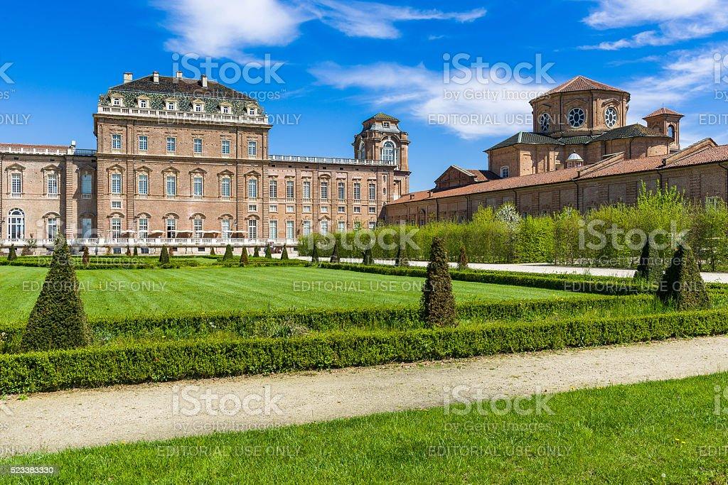 The Royal Palace of Venaria stock photo