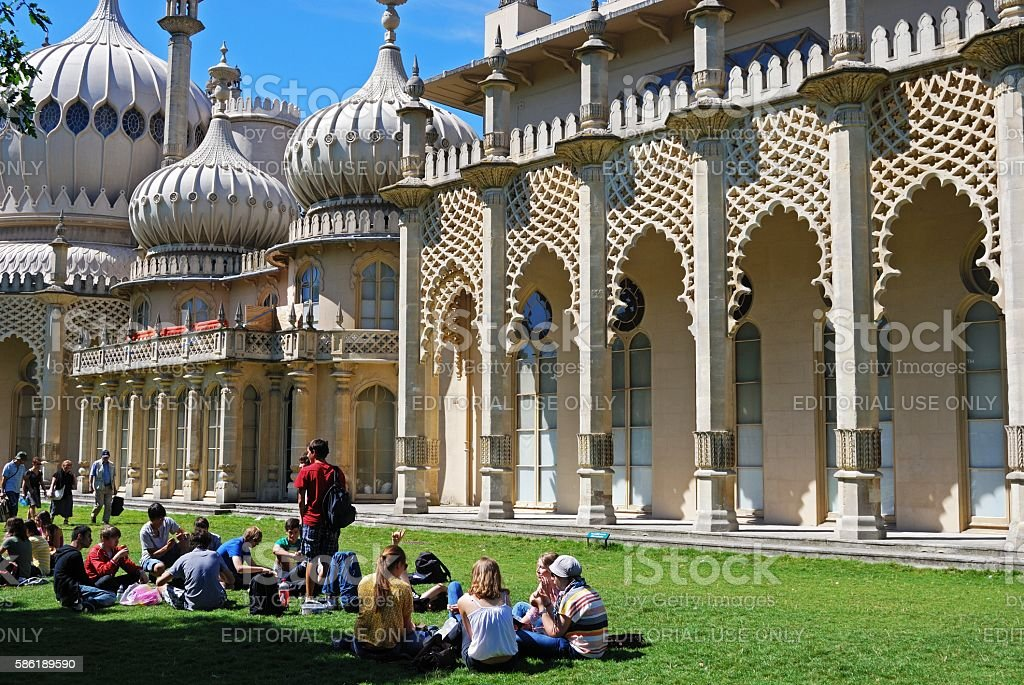The Royal Pavilion, Brighton. stock photo