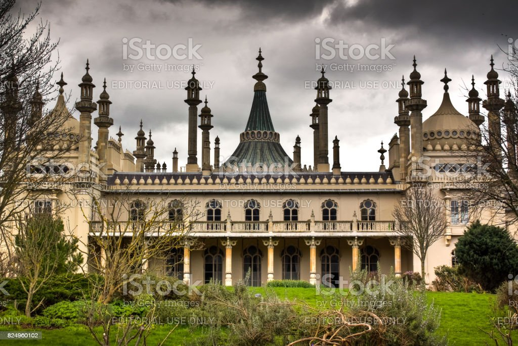 The Royal Pavilion in Brighton, England, UK stock photo