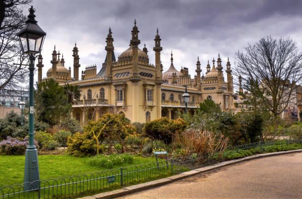 The Royal Pavilion in Brighton, England, UK stock photo