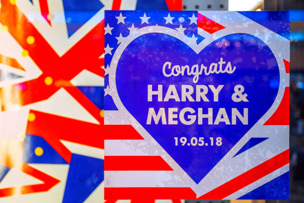 the royal wedding of prince harry and meghan - matrimonio reale foto e immagini stock