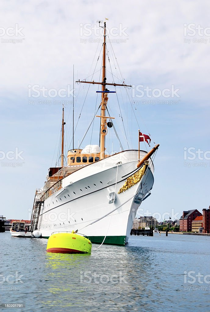 The royal yacht Dannebro royalty-free stock photo