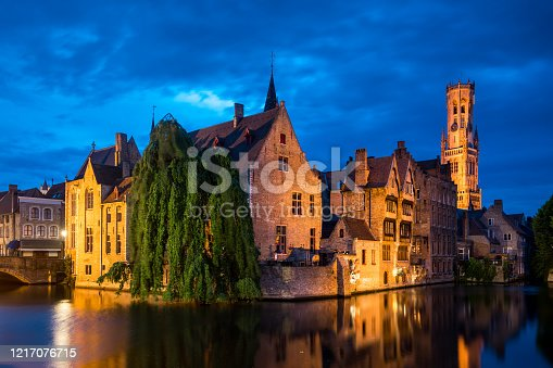 istock The Rozenhoedkaai – Bruges medieval old town 1217076715