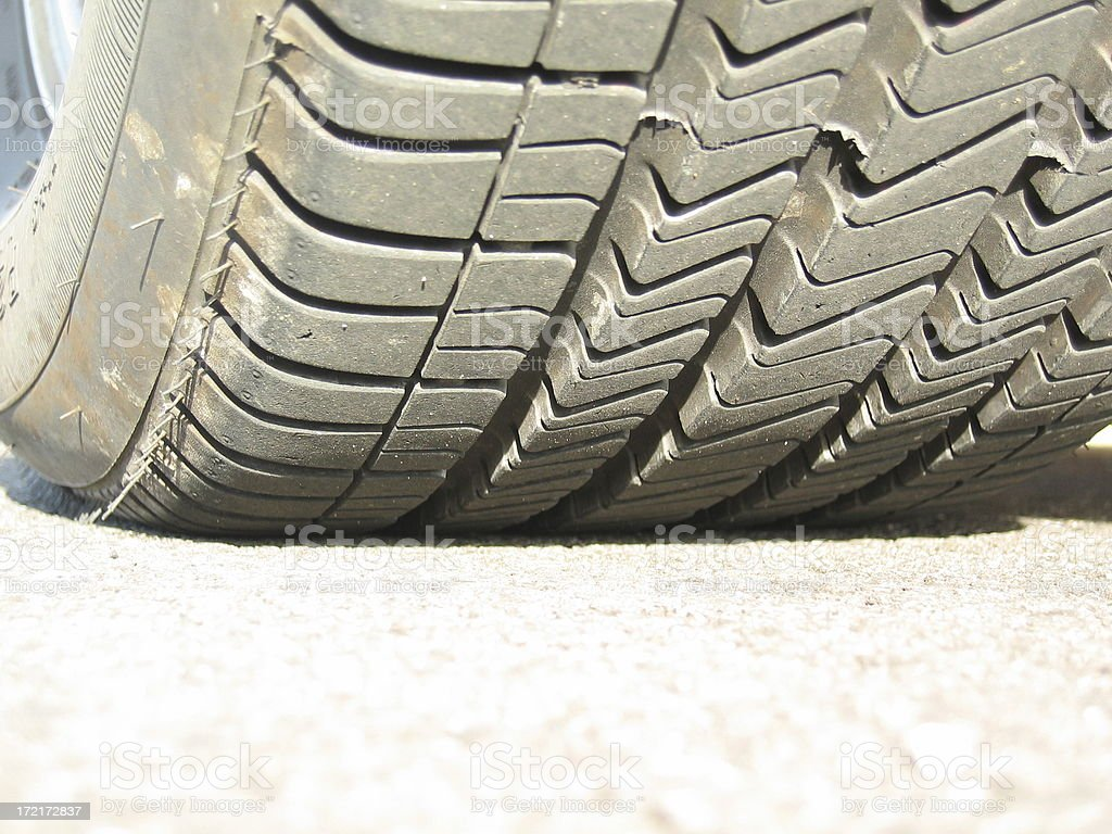 The Rubber Meets the Road royalty-free stock photo