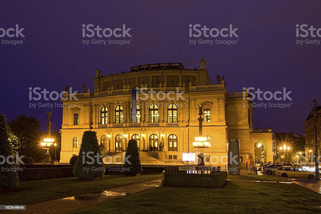 "The Rudolfinum Concert Hall in Prague ""The Rudolfinum Concert Hall in Prague, Czech Republic.The Rudolfinum is one of Prague`s Neo-Renaissance jewels built between 1876-1884."" Architecture Stock Photo"