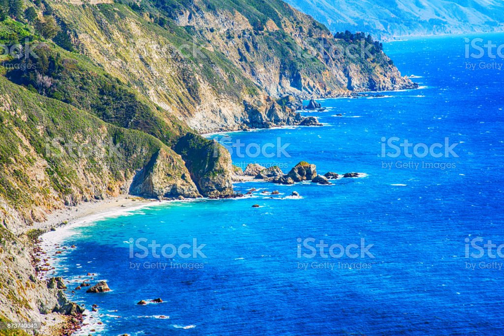 The Rugged Coastline of Central California stock photo