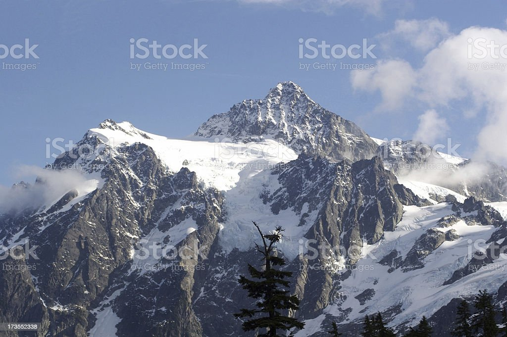 The Rugged Summit of Mount Shuksan royalty-free stock photo