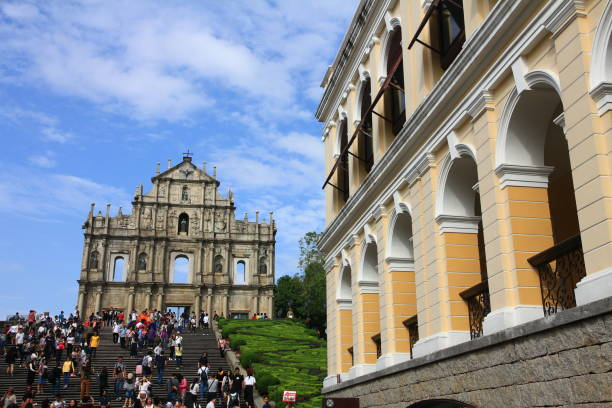 the ruin of st. paul's, macau - paul simon bildbanksfoton och bilder
